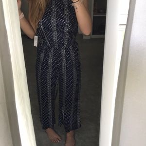 Blue and white jumpsuit!